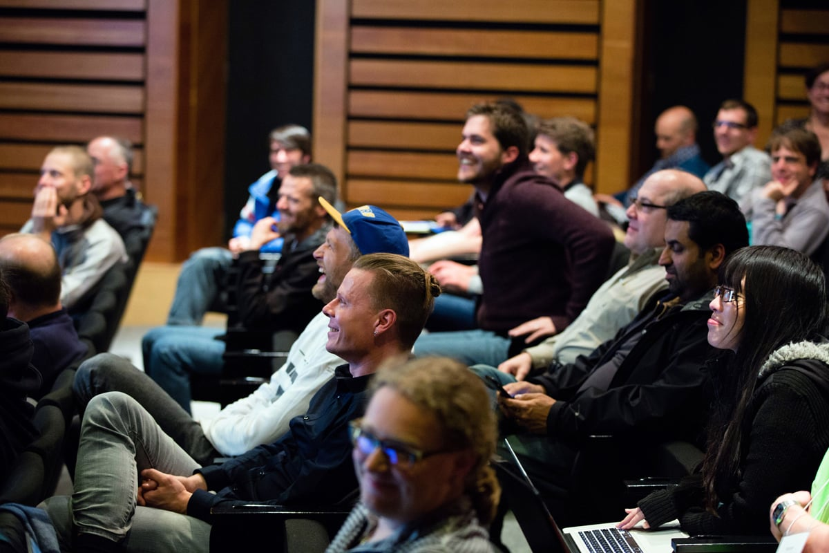 C++Now Lightning Talk Audience - Photograph by Zoetica Ebb. Used with permission.